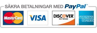 Vi använder säkra betalningar med PayPal.
